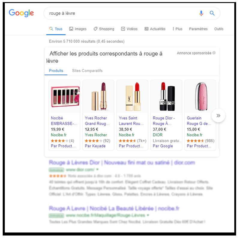 Google Ads - publicité sur Google shopping