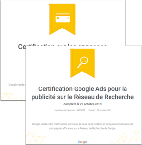 Certifications Google ads