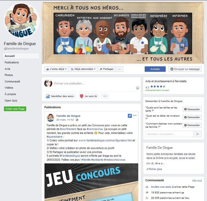 Page Facebook Famille de Dingue