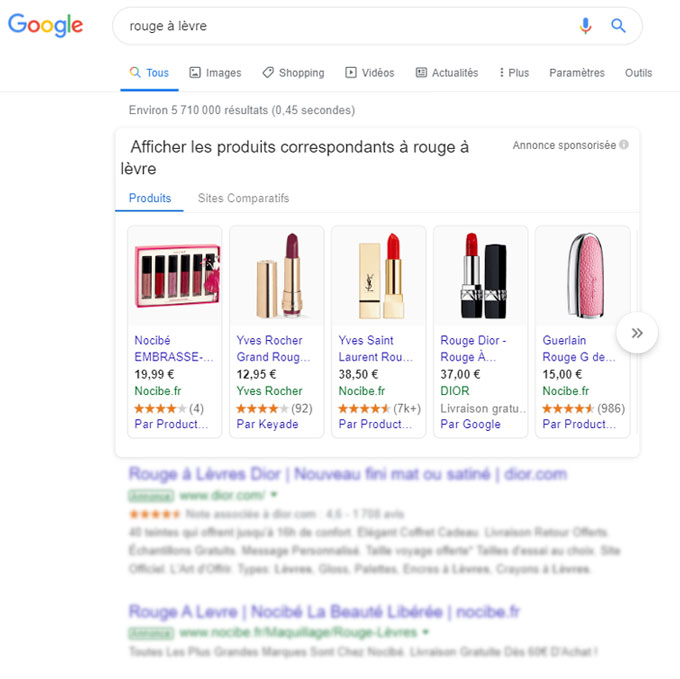 Google Shopping sur google Ads